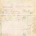 Vintage French invoice receipt script background