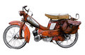 Vintage French Moped Royalty Free Stock Photo