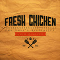 Vintage fresh chicken label Stock Photos