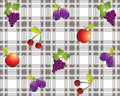 Vintage fruit design tablecloth Royalty Free Stock Photography