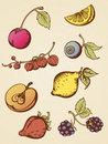Vintage fruits Royalty Free Stock Images