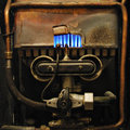 Vintage gas heater Stock Photography