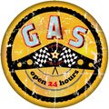 Vintage gas station sign illustration Stock Images