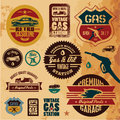 Vintage gasoline labels Stock Photography