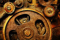 Vintage gears mechanism Royalty Free Stock Photos