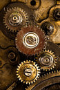 Vintage gears mechanism Stock Photos