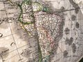 stock image of  Old map of South America, perspective