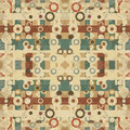 Vintage geometric circles and lines background grunge effect vector illustration Royalty Free Stock Photo