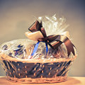 Vintage gift basket Royalty Free Stock Image