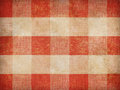 Vintage gingham tablecloth background red Stock Images