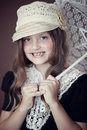 Vintage girl Royalty Free Stock Photography