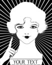 Vintage Girl Roaring 20's Flapper Woman Royalty Free Stock Photo