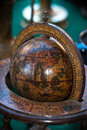 Vintage globe close up of a Royalty Free Stock Images
