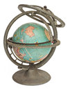 Vintage globe with iron stand Stock Photo