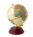 Vintage globe isolated Stock Photography