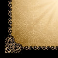 Vintage gold background corner design element Stock Photos