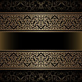 Vintage gold background with ornamental borders Stock Image