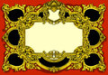 Vintage gold baroque frame on red background detailed illustration of a this illustration is saved in eps with color space in rgb Royalty Free Stock Photography