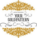 Vintage gold border Royalty Free Stock Image