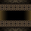 Vintage gold frame background with ornamental borders Royalty Free Stock Image