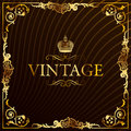 Vintage gold frame decorative background Royalty Free Stock Photo