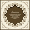 Vintage ornate frame, cutout card template Royalty Free Stock Photo