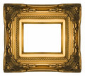 Vintage gold ornate picture frame Royalty Free Stock Photo