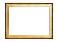 Vintage gold picture frame Stock Image