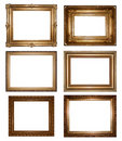 Vintage gold picture frames Royalty Free Stock Photo