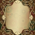 Vintage gold translucent frame Royalty Free Stock Image