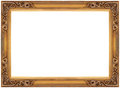 Vintage gold wooden picture frame Royalty Free Stock Photos