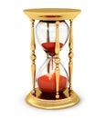 Vintage golden hourglass