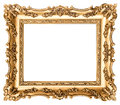 Vintage golden picture frame. Antique style object