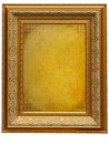 Vintage golden picture frame with empty parchment Royalty Free Stock Photo