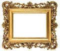 Vintage golden picture frame isolated on white background antique object Royalty Free Stock Photography