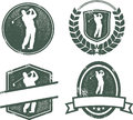 Vintage Golf Emblems Stock Photo