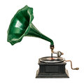 Vintage gramophone record player Royalty Free Stock Photo