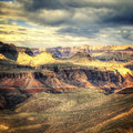Vintage Grand Canyon Royalty Free Stock Photo