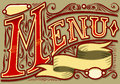 Vintage graphic element for menu Royalty Free Stock Photos