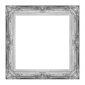 Vintage gray frame with blank space with clipping path Stock Images