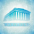 Vintage greece grunge background in blue Royalty Free Stock Photo