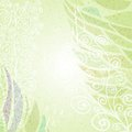 Vintage green abstract floral background left Royalty Free Stock Photo
