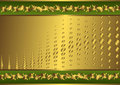 Vintage green and golden card (vector) Royalty Free Stock Photo