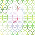Vintage green minimalistic background with geometric floral ornament Royalty Free Stock Image