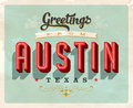 Vintage greetings from Austin vacation card