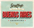 Vintage greetings from Buenos Aires, Argentina vacation card