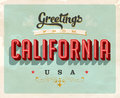 Vintage greetings from California Vacation Card