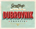 Vintage greetings from Dubrovnik, Croatia vacation card