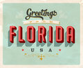 Vintage greetings from Florida Vacation Card