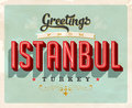 Vintage greetings from Istanbul, Turkey vacation card
